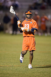 Virginia Cavaliers M Will Barrow (23)<br /> <br /> The Virginia Cavaliers Men's Lacrosse Team defeated Mount St. Mary's 23-6 at Kl?ckner Stadium in Charlottesville, VA on March 13, 2007.