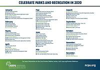 NRPA's 2020 Calendar Dates