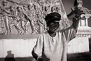 Khit Sommay, caretaker of the Lao-Vietnamese War memorial in Phonsavan. Lao PDR was formed in 1975 after American troops withdrew from neighbouring Vietnam.