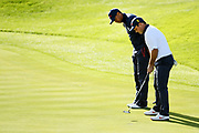 Tiger Woods and Patrick Reed during the saturday morning fourballs session of Ryder Cup 2018, at Golf National in Saint-Quentin-en-Yvelines, France, September 29, 2018 - Photo Philippe Millereau / KMSP / ProSportsImages / DPPI