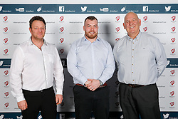 James Hall of Bristol Rugby poses during the Player Sponsors' Dinner in the Heineken Lounge at Ashton Gate - Mandatory byline: Rogan Thomson/JMP - 08/02/2016 - RUGBY UNION - Ashton Gate Stadium - Bristol, England - Bristol Rugby Player Sponsors' Dinner.