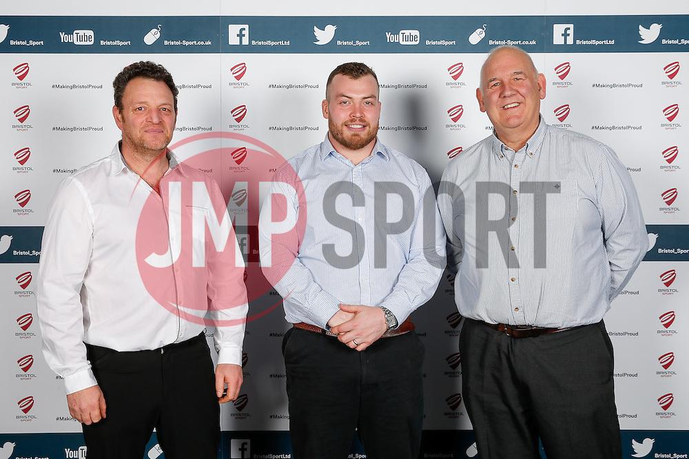 James Hall of Bristol Rugby poses during the Player Sponsors' Dinner in the Heineken Lounge at Ashton Gate - Mandatory byline: Rogan Thomson/JMP - 08/02/2016 - RUGBY UNION - Ashton Gate Stadium - Bristol, England - Bristol Rugby Player Sponsors' Dinner.
