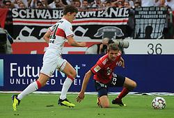 01.09.2018, VfB Stuttgart vs FC Bayern, Mercedes Benz Arena Stuttgart, Fussball, Sport, im Bild:...Benjamin Pavard (VFB Stuttgart) vs Thomas Mueller (FCB)...DFL REGULATIONS PROHIBIT ANY USE OF PHOTOGRAPHS AS IMAGE SEQUENCES AND / OR QUASI VIDEO...Copyright: Philippe Ruiz..Handy: 0177 29 39 408. (Credit Image: © Philippe Ruiz/Xinhua via ZUMA Wire)