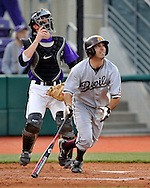MANHATTAN, KS - MAY 06:  MANHATTAN, KS - May 06:  Right fielder Rocky Laguna # 26 of the Arizona State Sun Devils drives the ball deep to center field during the second inning against the Kansas State Wildcats on May 06, 2008 at Tointon Stadium in Manhattan, Kansas.  Kansas State defeated Arizona State 7-6.  (Photo by Peter Aiken/Getty Images) *** Local Caption *** Rocky Laguna