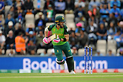 Faf du Plessis of South Africa batting during the ICC Cricket World Cup 2019 match between South Africa and India at the Hampshire Bowl, Southampton, United Kingdom on 5 June 2019.