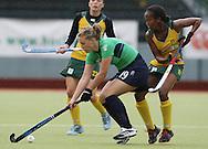 Setanta Sports Trophy, The National Hockey Stadium, UCD, Belfield, Dublin 11/6/2008.Ireland vs South Africa.Ireland's Hollie Moffett and Leslie-Ann George of South Africa.Mandatory Credit ©INPHO/Lorraine O'Sullivan