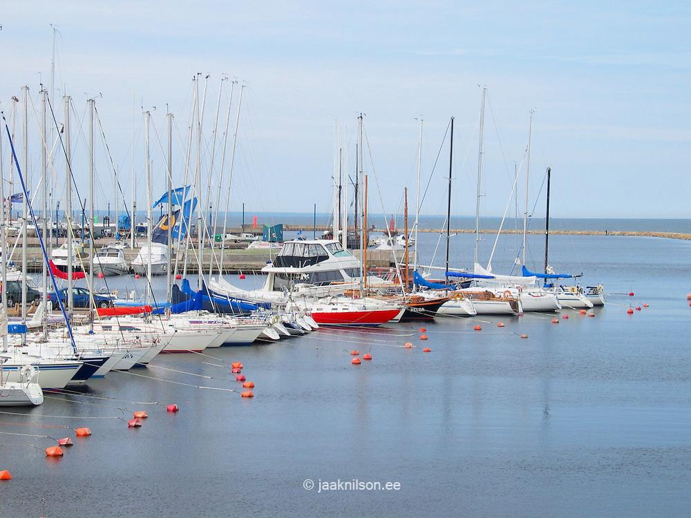 Yacht Marina in Pirita, Tallinn, Estonia