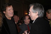 David Hare and Ian McEwan Book party for 'Saturday' by Ian McEwan, Polish Club, South Kensington.  4 February 2005. ONE TIME USE ONLY - DO NOT ARCHIVE  © Copyright Photograph by Dafydd Jones 66 Stockwell Park Rd. London SW9 0DA Tel 020 7733 0108 www.dafjones.com
