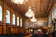 Rathaus innen, Festsaal, Hamburg, Deutschland Verwendung nur mit Genehmigung des Hamburger Rathauses.|.interior of guild hall, big hall, Hamburg, Germany