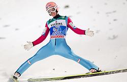 06.01.2015, Paul Ausserleitner Schanze, Bischofshofen, AUT, FIS Ski Sprung Weltcup, 63. Vierschanzentournee, Finale, im Bild Gesamtsieger Stefan Kraft (AUT) // Stefan Kraft of Austria during Final Jump of 63rd Four Hills <br /> Tournament of FIS Ski Jumping World Cup at the Paul Ausserleitner Schanze, Bischofshofen, Austria on 2015/01/06. EXPA Pictures © 2015, PhotoCredit: EXPA/ JFK