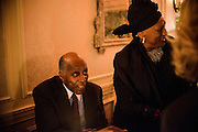"Photo by Matt Roth.Assignment ID: 10137379A..Vernon Jordan and Opera singer Jessye Norman during the Buffy and Bill Cafritz, Ann and Vernon Jordan, Vicki and Roger Sant inaugural ""Bi-Partisan Celebration"" at the Dolley Madison Ballroom at the Madison Hotel in Washington, D.C. on Monday, January 21, 2013."