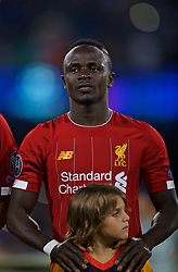NAPLES, ITALY - Tuesday, September 17, 2019: Liverpool's Sadio Mane lines-up before the UEFA Champions League Group E match between SSC Napoli and Liverpool FC at the Studio San Paolo. (Pic by David Rawcliffe/Propaganda)