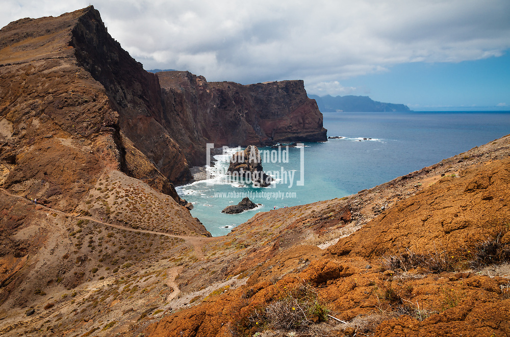 © Rob Arnold.  04/09/2014. Madeira, Portugal. A landscape of the peninsular, Ponta de São Lourenço on the Portuguese island of Madeira. The peninsular is located on the far east coast of Madeira is home to a popular walk between Baia D`Abra and Cais do Sardinha, which takes approximately 4-5 hours to complete. Photo credit : Rob Arnold