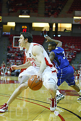 30 January 2011: Alex Rubin during an NCAA basketball game between the Drake Bulldogs and the Illinois State Redbirds. The Redbirds win in OT 77-75 after a last three point shot by Drake was ruled too late at Redbird Arena in Normal Illinois.