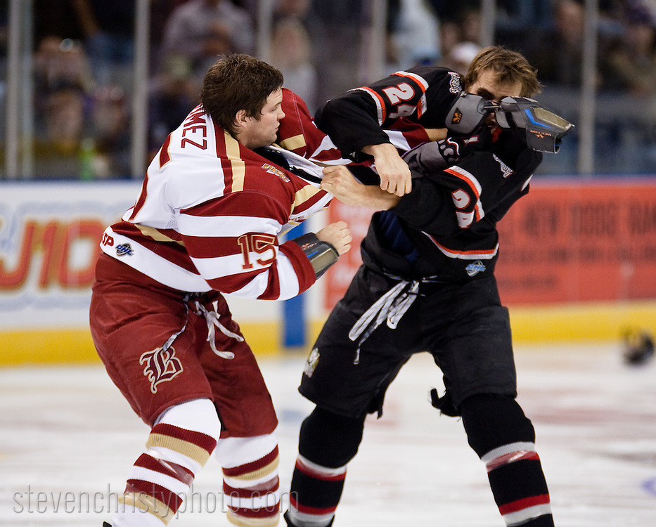 November 26, 2008: The Amarillo Gorillas of the CHL play against the Oklahoma City (OKC) Blazers at the Ford Center in Oklahoma City, OK.