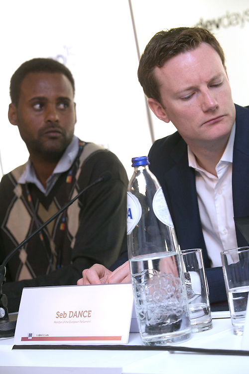 03 June 2015 - Belgium - Brussels - European Development Days - EDD - Food - Small-scale farming and sustainable food systems - Seb Dance , Member of the European Parliament (SandD) - Jima Gobena<br /> Project coordinator, Vicariate of Meki, Ethiopia &copy; European Union