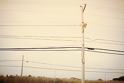 telephone wires against the sky in Amagansett, NY