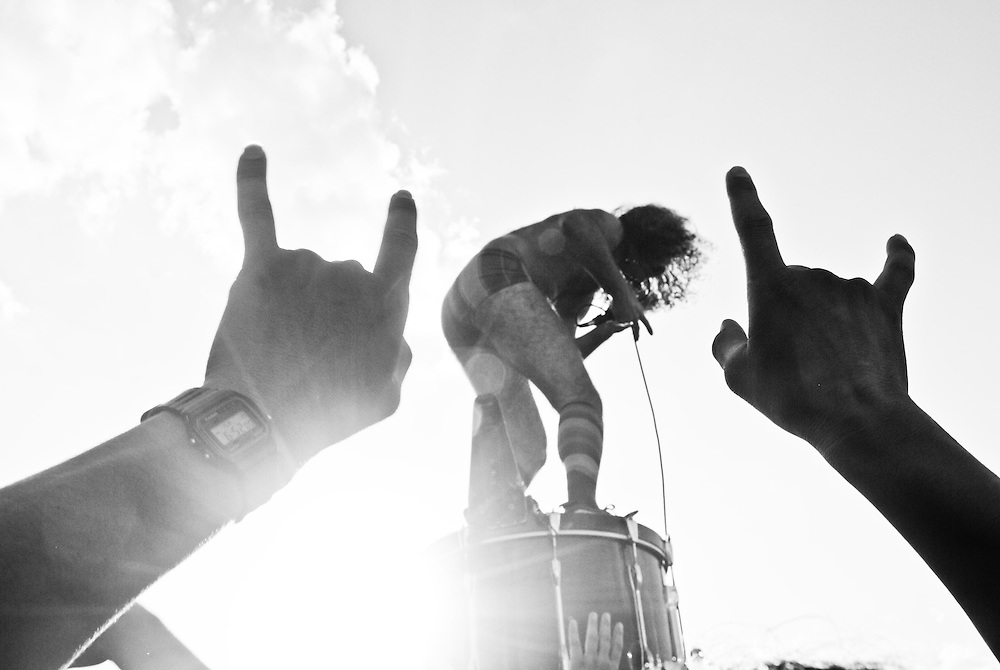 Ami Shalev of Isreali band Monotonix at Siren Music Festival, Coney Island, July 2009