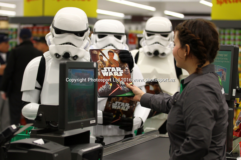 Countdown Star Wars Collectable Launch, Countdown Ponsonby, Auckland.  3 August 2016. Copyright Image: William Booth / www.photosport.nz