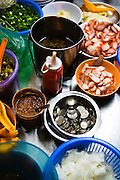 Ingredients for noodle hawker.