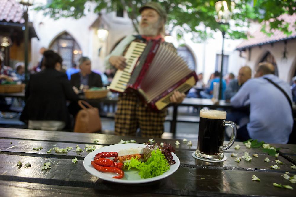 "Traditional Czech pub ""U Fleku""."