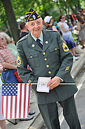 American Legionnaire at Merrick Memorial Day Parade on May 28, 2012, on Long Island, New York, USA. Legionnaire is member of Merrick Post 1282 which hosted the parade and cermeonies, and America's war heroes are honored on this National Holiday.