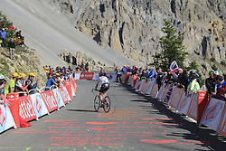 Markel Irizar (ESP) Trek-Segafredo climbs Col d'Izoard during Stage 18 of the 104th edition of the Tour de France 2017, running 179.5km from Briancon to the summit of Col d'Izoard, France. 20th July 2017.<br /> Picture: Eoin Clarke | Cyclefile<br /> <br /> All photos usage must carry mandatory copyright credit (&copy; Cyclefile | Eoin Clarke)
