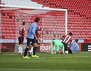 Thomas Konrad scores Dundee's second goal - Sheffield United v Dundee, pre season friendly at Bramall Lane<br /> <br />  - &copy; David Young - www.davidyoungphoto.co.uk - email: davidyoungphoto@gmail.com