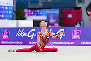 Nikolchenko Vlada during final at clubs in Pesaro World Cup April 15, 2018. Vlada is a gymnast from Ukraine born in Kharkiv, 2002 .Her goal is compete at the 2020 Olympic Games in Tokyo.