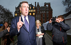 © Licensed to London News Pictures. 12/12/2018. London, UK. Chairman of the 1922 Committee, GRAHAM BRADY is seen during a media interview in Westminster as Prime Minister Theresa May faces a vote of no confidence from her own party. Photo credit: Ben Cawthra/LNP