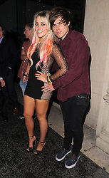 Singer Amelia Lily and boyfriend Ollie Mack enjoy a night out at the Mahiki club in Mayfair, London, UK. 16/10/2012<br />BYLINE MUST READ : GOTCHAIMAGES.COM<br /><br />Copyright by © Gotcha Images Ltd. All rights reserved.<br />Usage of this image is conditional upon the acceptance <br />of Gotcha Images Ltd, terms and conditions available at<br />www.gotchaimages.com
