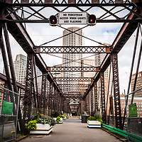 Boston Northern Avenue Bridge photo. Old Northern Avenue Bridge was built in 1908 and spans the Fort Point Channel. Boston Massachusetts is a major city in the New England region of the Eastern United States. Copyright ⓒ Paul Velgos with All Rights Reserved.
