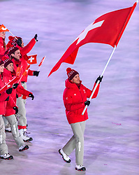 09.02.2018, Olympic Stadium, Pyeongchang, KOR, PyeongChang 2018, Eröffnungsfeier, im Bild Dario Cologna (SUI) // Switzerland' s flagbearer Dario Cologna during the Opening Ceremony of the Pyeongchang 2018 Winter Olympic Games at the Olympic Stadium in Pyeongchang, South Korea on 2018/02/09. EXPA Pictures © 2018, PhotoCredit: EXPA/ Johann Groder