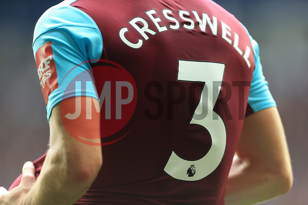 A detailed shot of Aaron Cresswell of West Ham United - Mandatory by-line: Paul Roberts/JMP - 16/09/2017 - FOOTBALL - The Hawthorns - West Bromwich, England - West Bromwich Albion v West Ham United - Premier League
