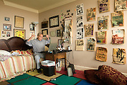 Writer Carl Brown, photographed in his apartment in The 800 Building, Friday, Sept. 14, 2012 in Louisville, Ky. (Photo by Brian Bohannon/www.brianbohannon.com)
