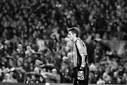Bayern Munich´s goalkeeper Hans Jörg Butt stands in the heavy rain during the UEFA Champions League quarter final first leg match between FC Barcelona and FC Bayern Munich at the Camp Nou stadium on April 8, 2009 in Barcelona, Spain.