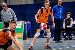 03-02-2018 NED: Talent Team - Inter Rijswijk, Arnhem<br /> Talent Team wint vrij eenvoudig met 3-0 van Rijswijk / Martijn Brilhuis #7 of Talent Team