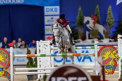 DINIZ Luciana (POR), Vertigo du Desert<br /> München - Munich Indoors 2019<br /> Stechen<br /> CSI4* - Championat der Deutsche Vermögensberatung AG -DVAG (Große Tour)<br /> Springprüfung mit Stechen, international<br /> Höhe: 1.50m<br /> 23. November 2019<br /> © www.sportfotos-lafrentz.de/Stefan Lafrentz