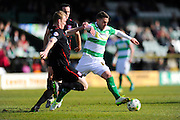 Yeovil Town's Jack Compton during the Sky Bet League 2 match between Yeovil Town and Carlisle United at Huish Park, Yeovil, England on 25 March 2016. Photo by Graham Hunt.