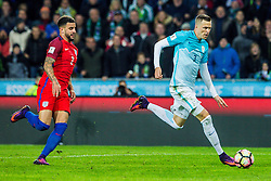 Josip Ilicic of Slovenia and Kyle Walker of England during football match between National teams of Slovenia and England in Round #3 of FIFA World Cup Russia 2018 qualifications in Group F, on October 11, 2016 in SRC Stozice, Ljubljana, Slovenia. Photo by Grega Valancic / Sportida