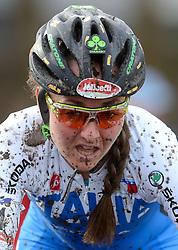 01-02-2014 WIELRENNEN: UCI CYCLO-CROSS WORLD CHAMPIONSHIPS: HOOGERHEIDE <br /> WK veldrijden in Hoogerheide / Eva Lechner ITA pakt het zilver op het WK<br /> ©2014-FotoHoogendoorn.nl