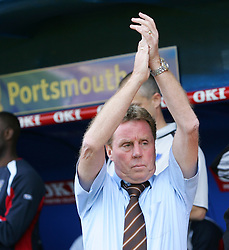 Portsmouth, England: Saturday, April 28, 2007: Portsmouth's Harry Redknapp takes part in the minutes applause after the death of Alan Ball before the Premiership match against Liverpool at Fratton Park (Pic by Chris Ratcliffe/Propaganda)
