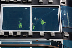 UK ENGLAND LONDON 20APR15 - Workers on the Canaletto tower in the Islington Basin. <br /> <br /> <br /> <br /> jre/Photo by Jiri Rezac<br /> <br /> <br /> <br /> &copy; Jiri Rezac 2015