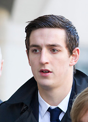 © Licensed to London News Pictures. 06/02/2013. London, UK. Brighton and Hove Albion football player Lewis Dunk, 21, is seen arriving at the Old Bailey in London today (06/02/13) where he and four other players are facing charges of sexual assault. Photo credit: Matt Cetti-Roberts/LNP