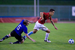 Sergei Kazakov vs Rusmin Dedic of Rudar at 1st Round of Europe League football match between NK Rudar Velenje (Slovenia) and Trans Narva (Estonia), on July 9 2009, in Velenje, Slovenia. Rudar won 3:1 and qualified to 2nd Round. (Photo by Vid Ponikvar / Sportida)