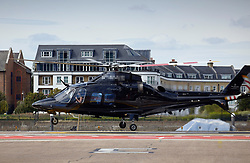 © Licensed to London News Pictures. 30/08/2019. London, UK. Chancellor of the Duchy of Lancaster and former Environment secretary MICHAEL GOVE is seen boarding a helicopter at Chelsea heliport in London. Government has asked the Queen to suspend Parliament in the days after MPs return to work in September - a few weeks before the Brexit deadline of October 31st. Photo credit: J.Almasi/LNP