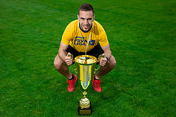 Milan Dzajic during celebration of NK Bravo, winning team in 2nd Slovenian Football League in season 2018/19 after they qualified to Prva Liga, on May 26th, 2019, in Stadium ZAK, Ljubljana, Slovenia. Photo by Vid Ponikvar / Sportida