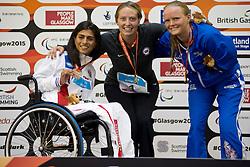 JORDAN Cortney, PALIAN Ani, ROGERS Susannah USA, RUS at 2015 IPC Swimming World Championships -  Women's 100m Freestyle S7