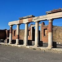 Building of Eumachia at Forum in Pompeii, Italy<br />