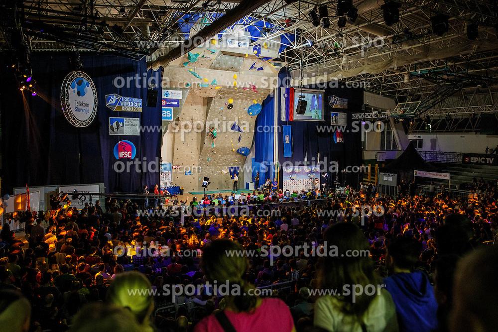 Final competition of IFSC Climbing World Cup Kranj 2016, on November 27, 2016 in Arena Zlato Polje, Kranj, Slovenia. (Photo By Grega Valancic / Sportida.com)